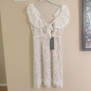 Brand New white lace dress w/ tags